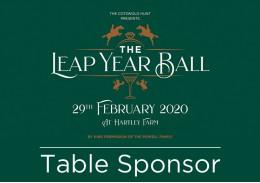 Hunt Ball Table Sponsorship