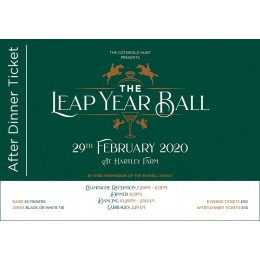 Hunt Ball After Dinner Ticket