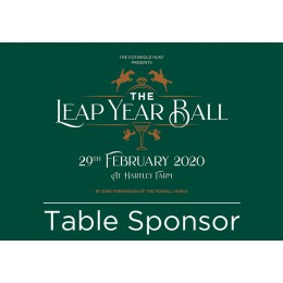 Hunt Ball Table Sponsorship
